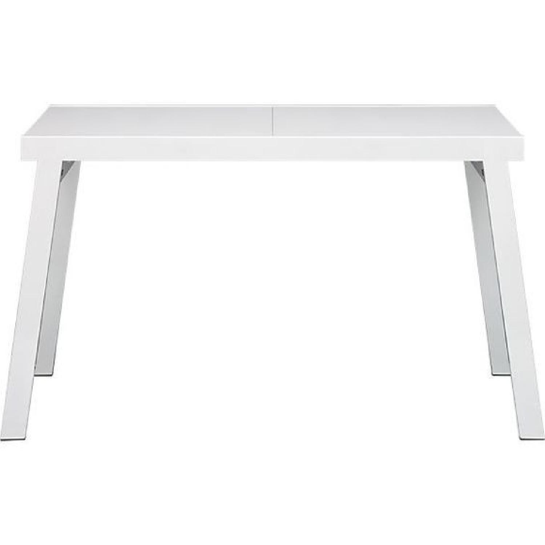 CB2 Pocket White Extension Table