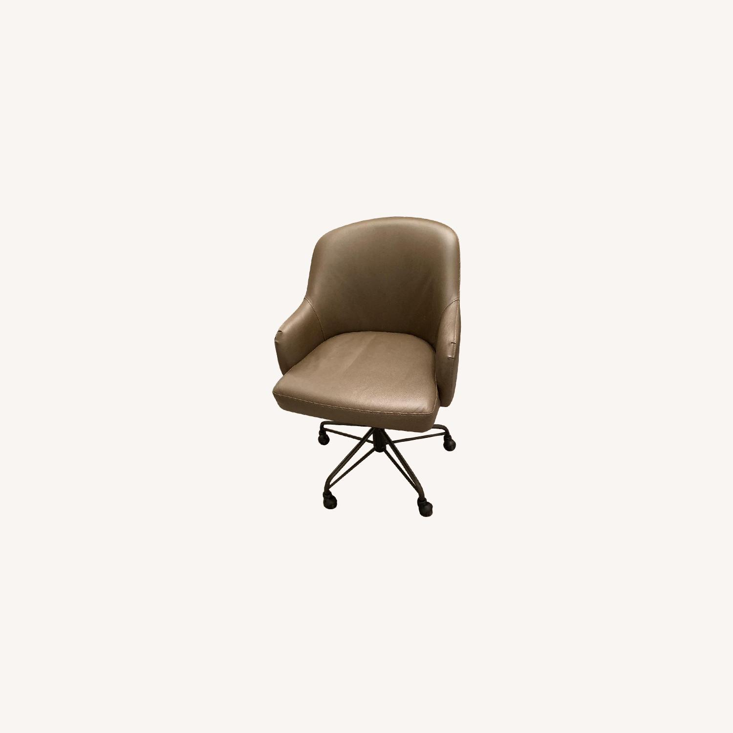 West Elm Valentina Faux Leather Office Chair - image-0
