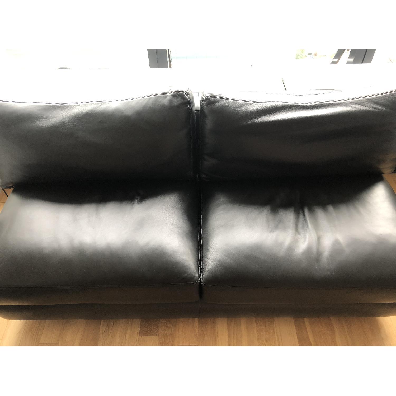 DWR Reid Leather Armless Sofa - image-2