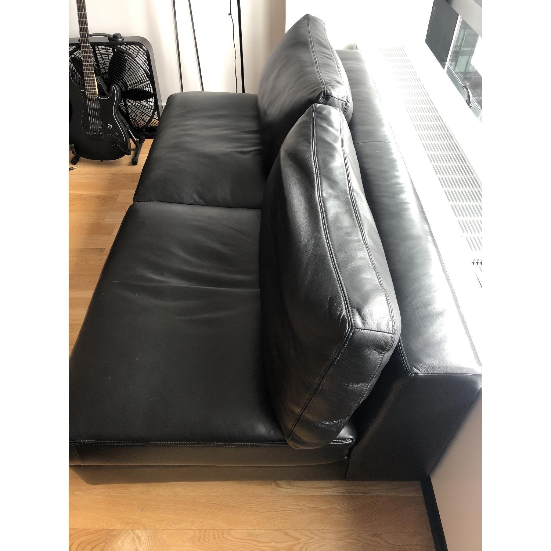 DWR Reid Leather Armless Sofa - image-3