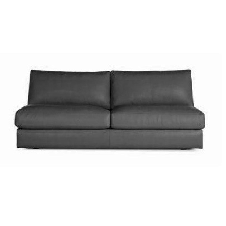 DWR Reid Leather Armless Sofa - image-0