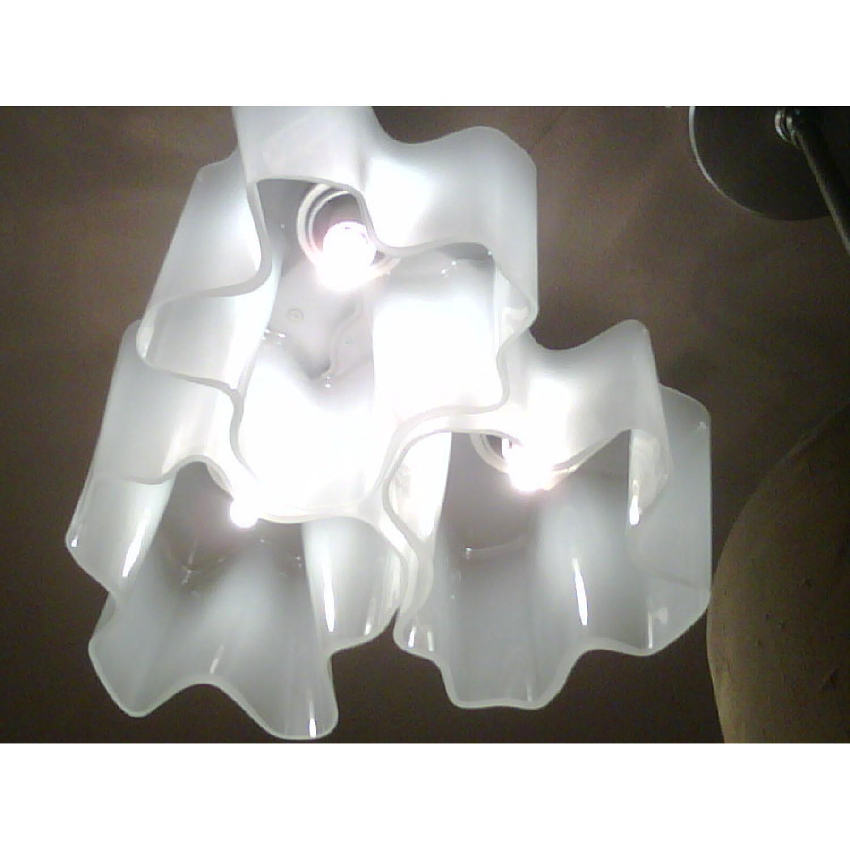 Artemide White Logico Flush Mount Light Fixture
