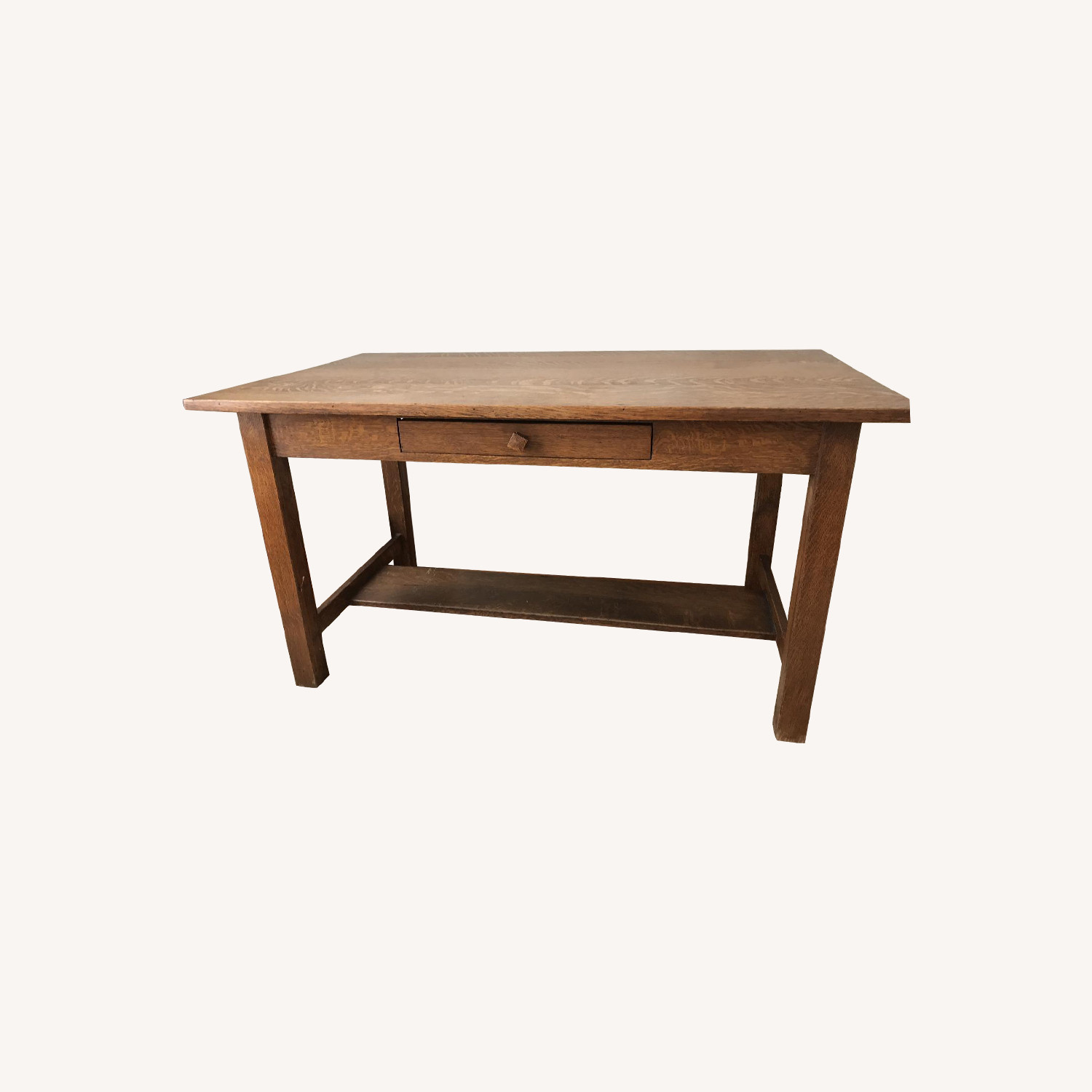 Olde Good Things Antique Oak Library Table/Desk