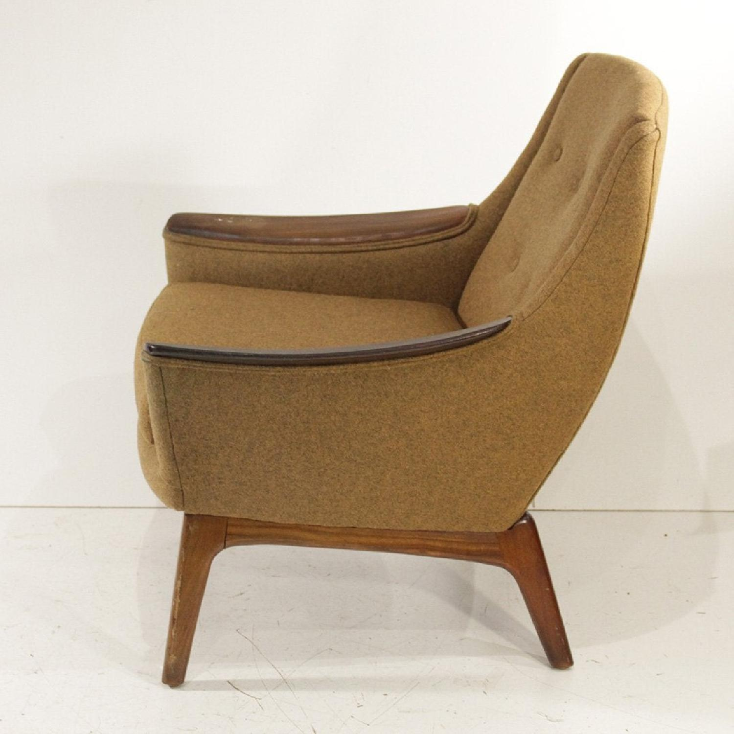 1960s Adrian Pearsall Walnut & Tweed Lounge Chair - image-2