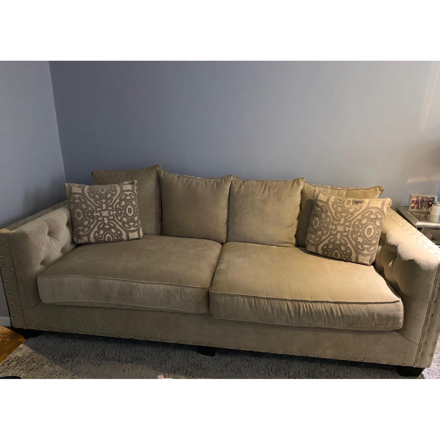 Raymour & Flanigan Sofa w/ Tufted Button Detail - image-2