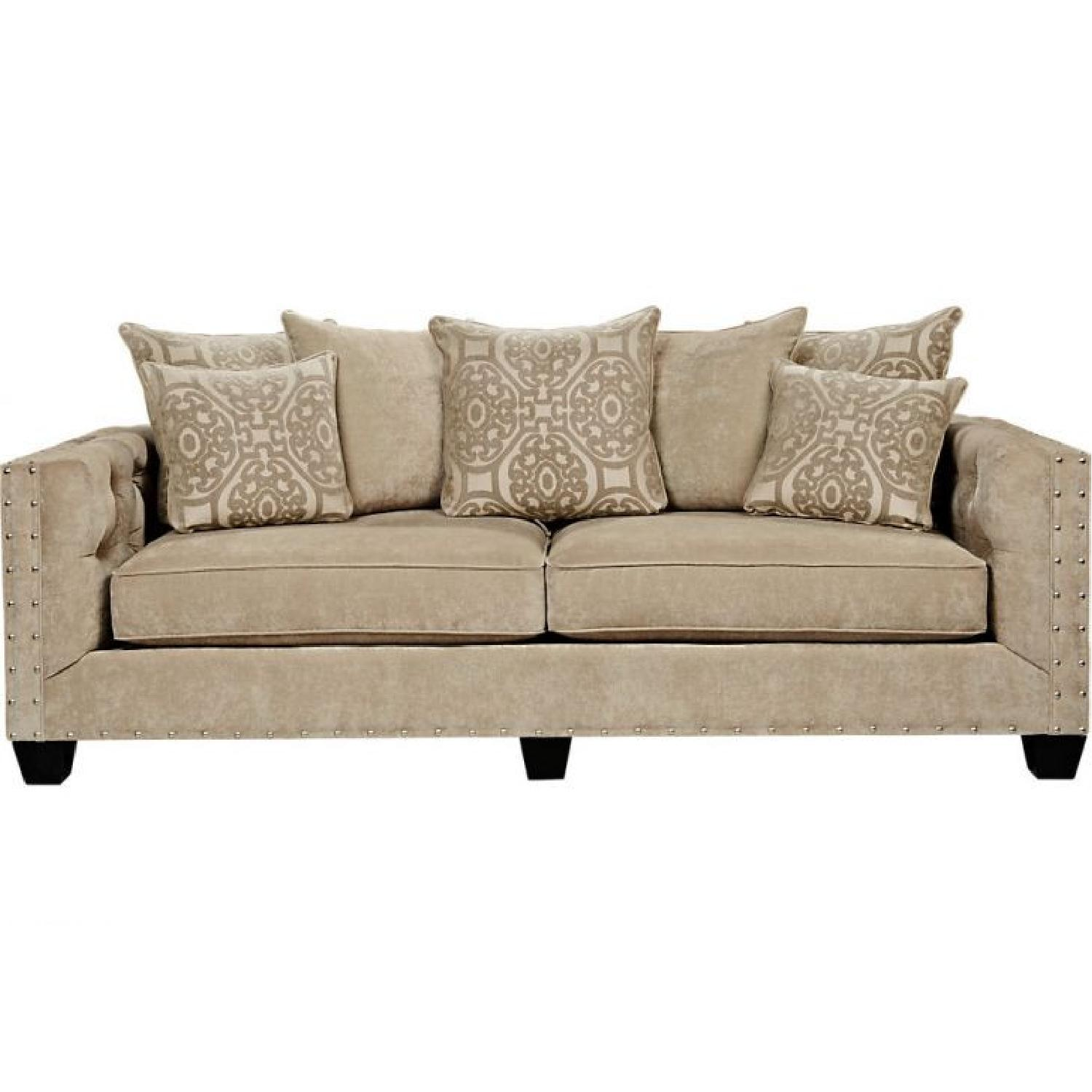 Raymour & Flanigan Sofa w/ Tufted Button Detail - image-0