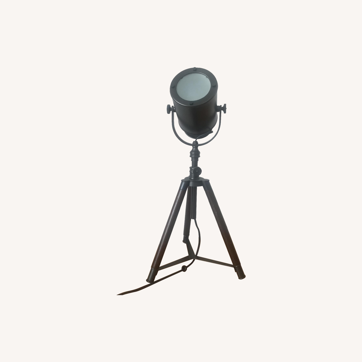 Pottery Barn Photographers Mini Bronze Tripod Lamp