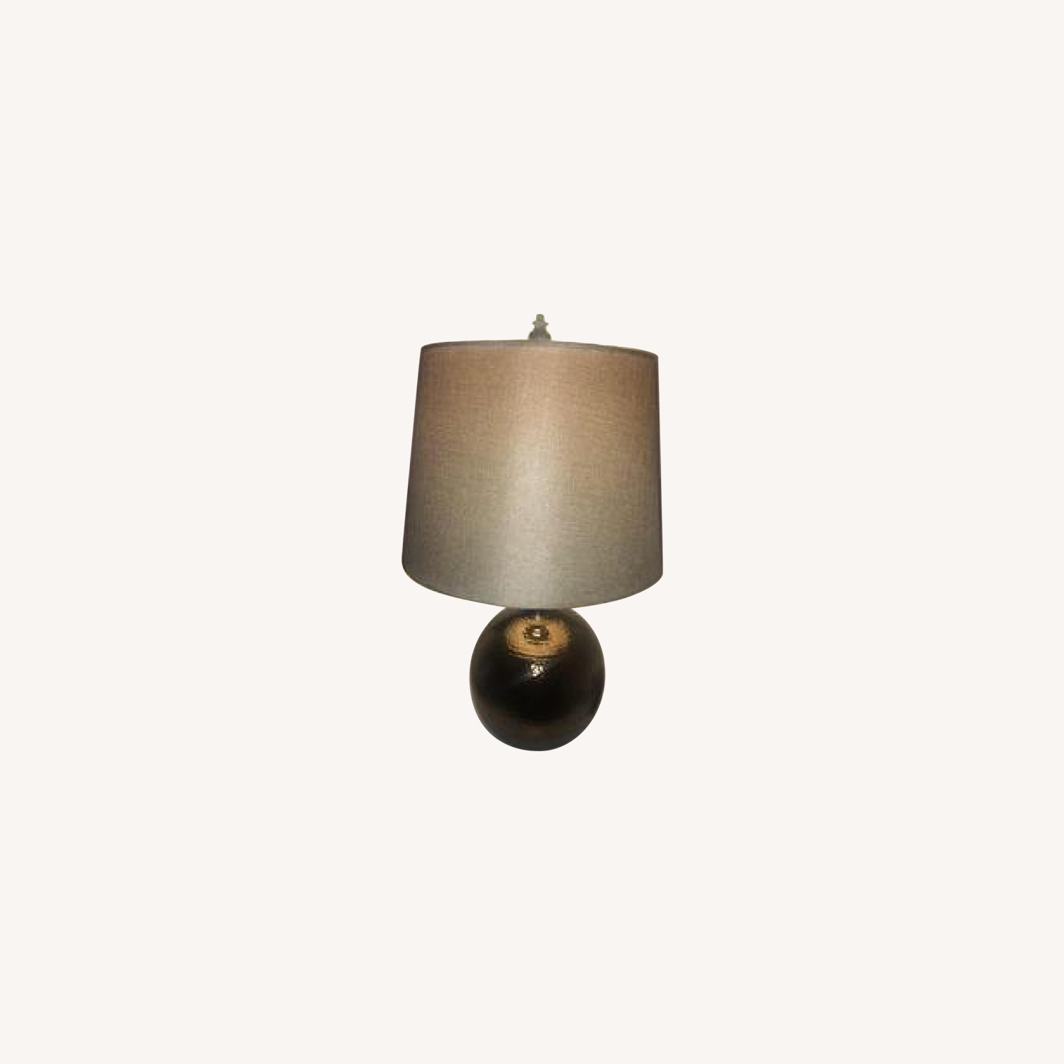 Copper Table Lamps w/ Beige Shades