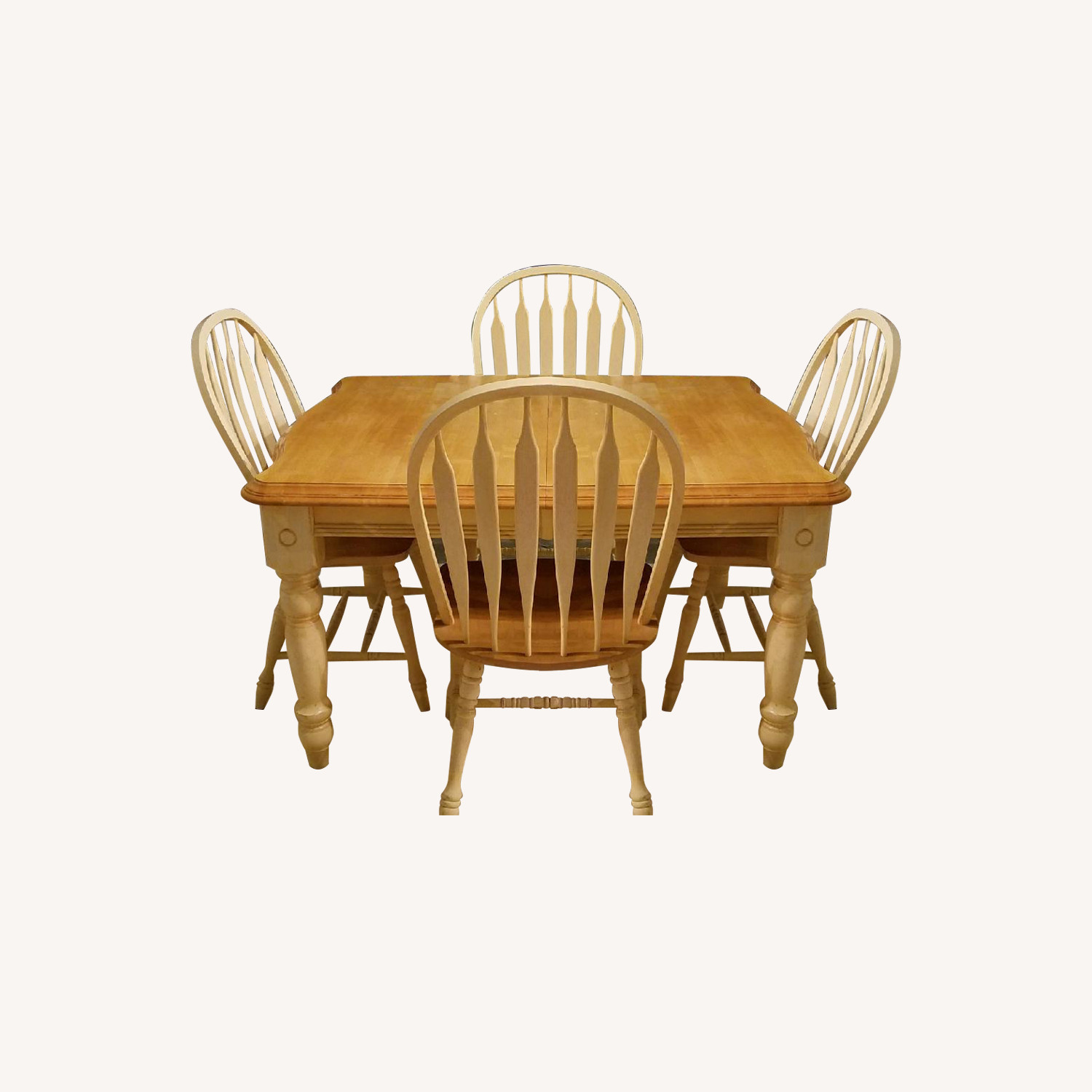 Wood Expandable Dining Table w/ 6 Chairs