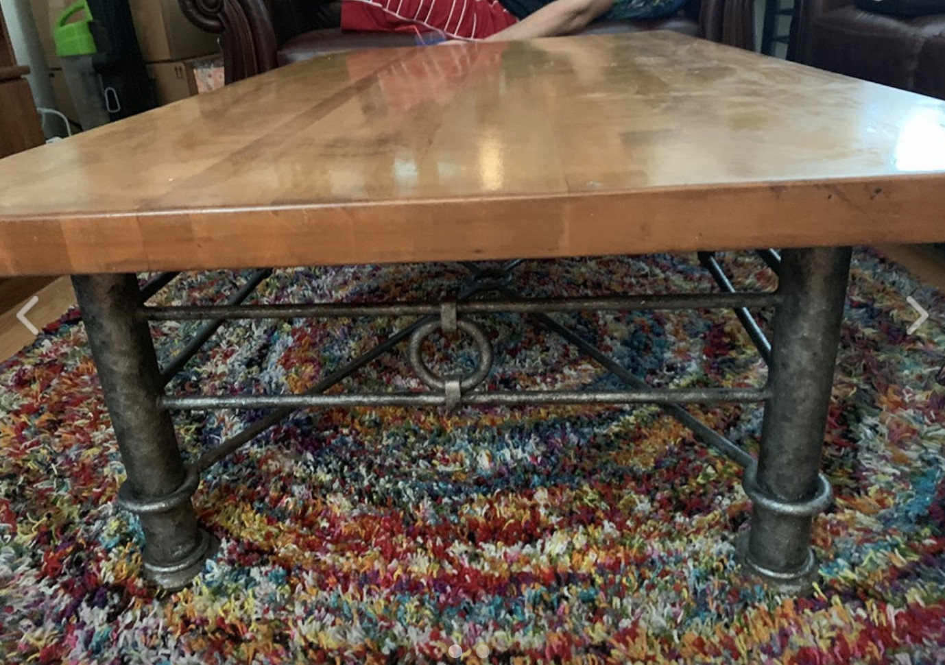 Butcher-Block Coffee Table & Side Table