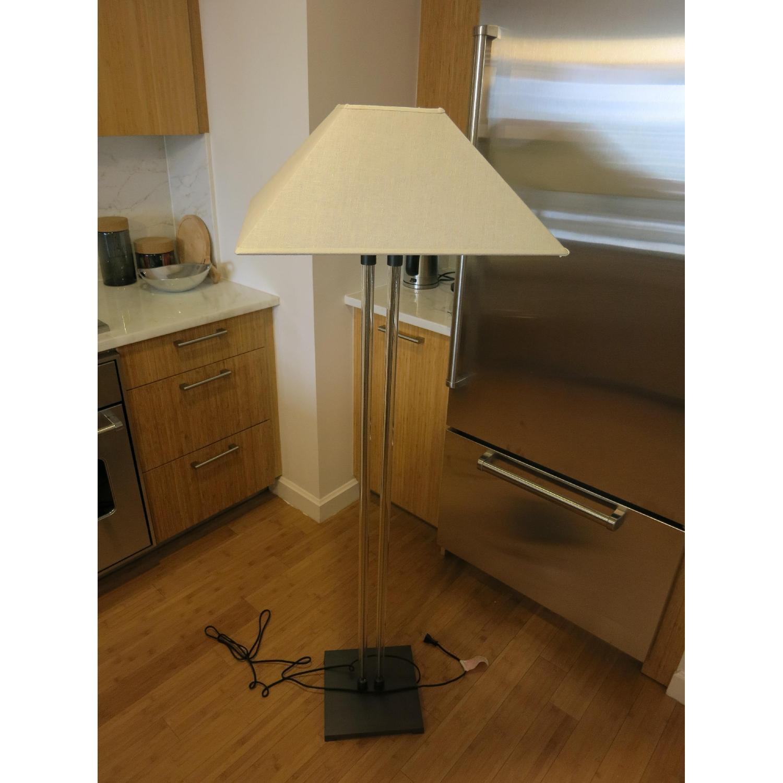 Restoration Hardware Twin Column Steel & Glass Floor Lamp - image-2