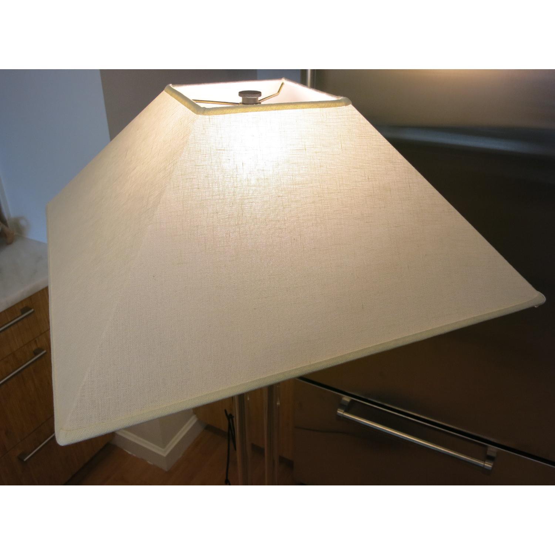 Restoration Hardware Twin Column Steel & Glass Floor Lamp - image-3