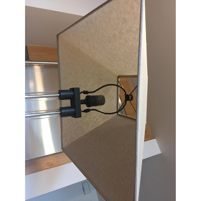 Restoration Hardware Twin Column Steel & Glass Floor Lamp - image-5