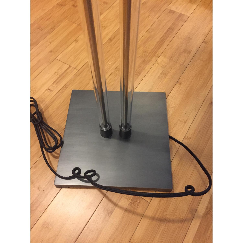 Restoration Hardware Twin Column Steel & Glass Floor Lamp - image-6