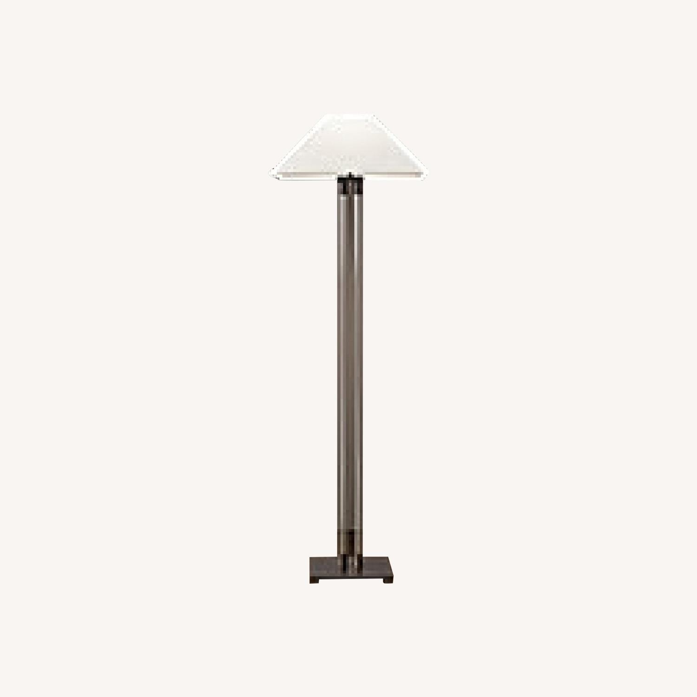 Restoration Hardware Twin Column Steel & Glass Floor Lamp