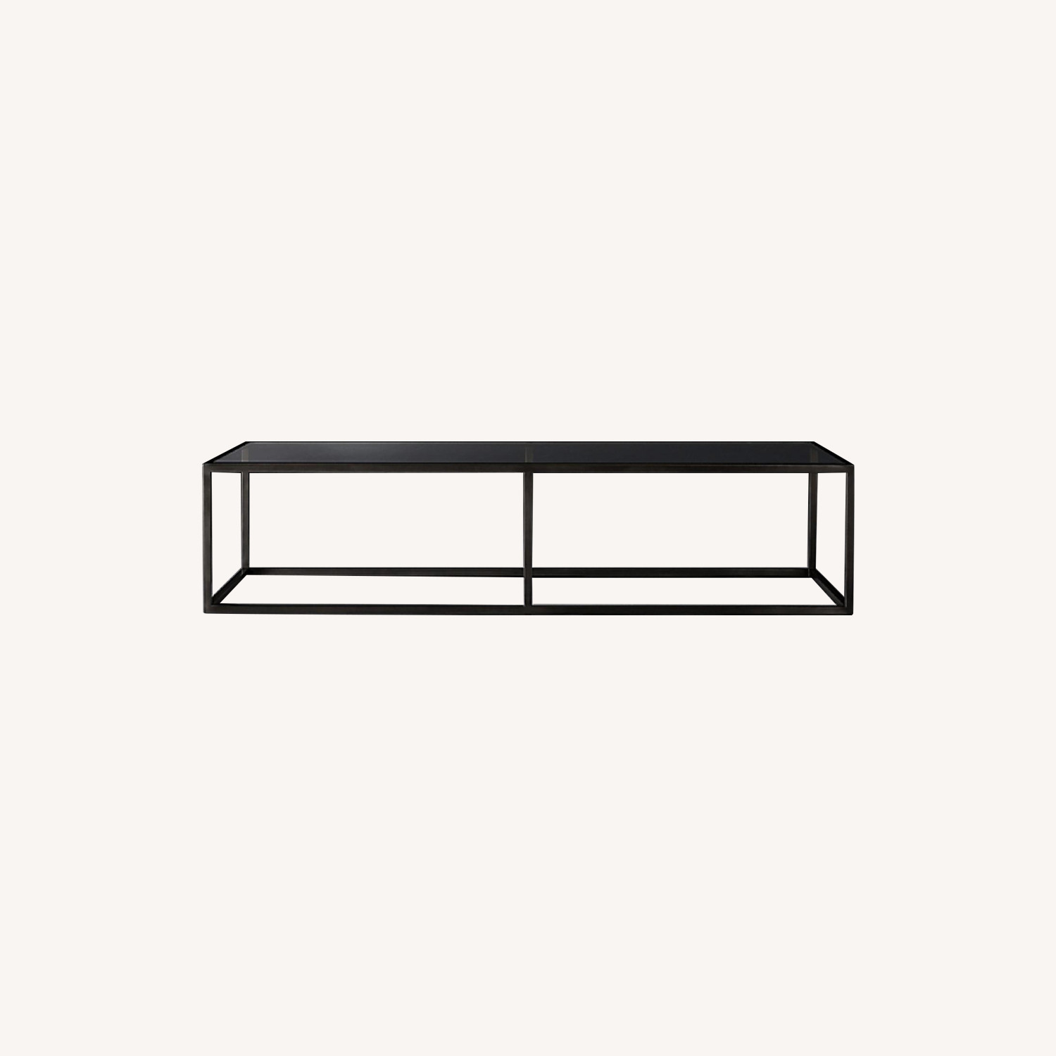 Restoration Hardware Black/Bronze Rectangular Coffee Table