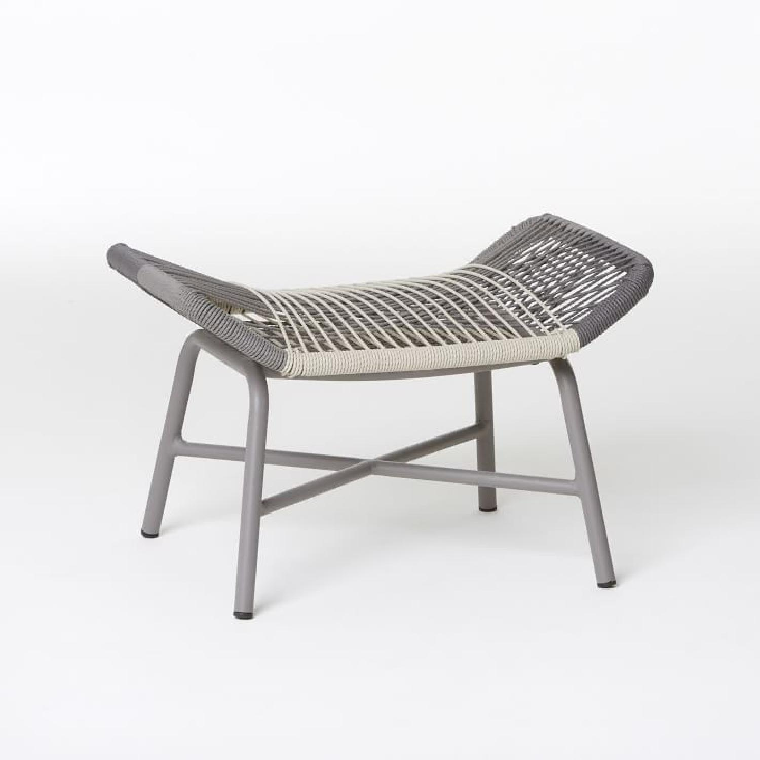 West Elm Huron Outdoor Lounge Chair & Ottoman - image-7