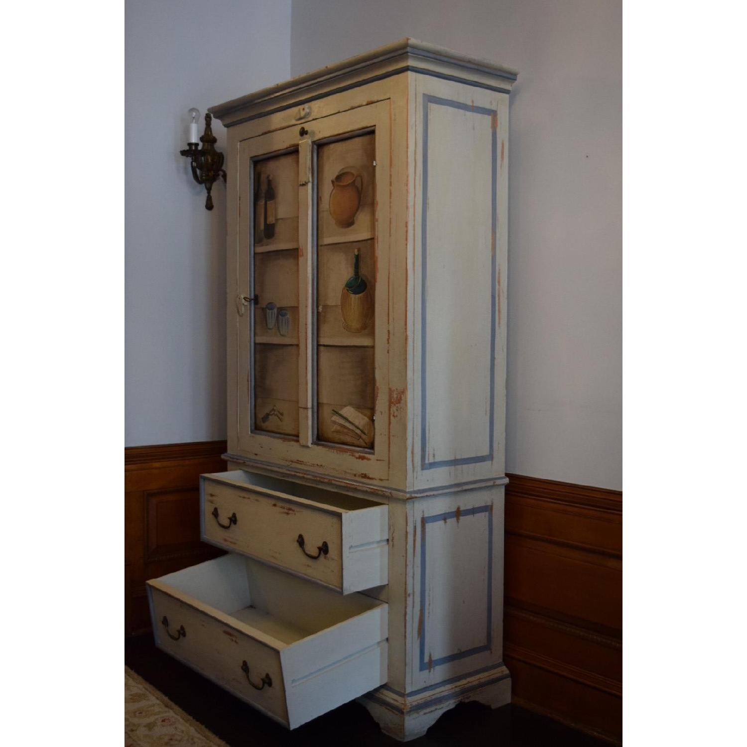 Shabby Chic Hand-Painted Distressed Cabinet - image-3
