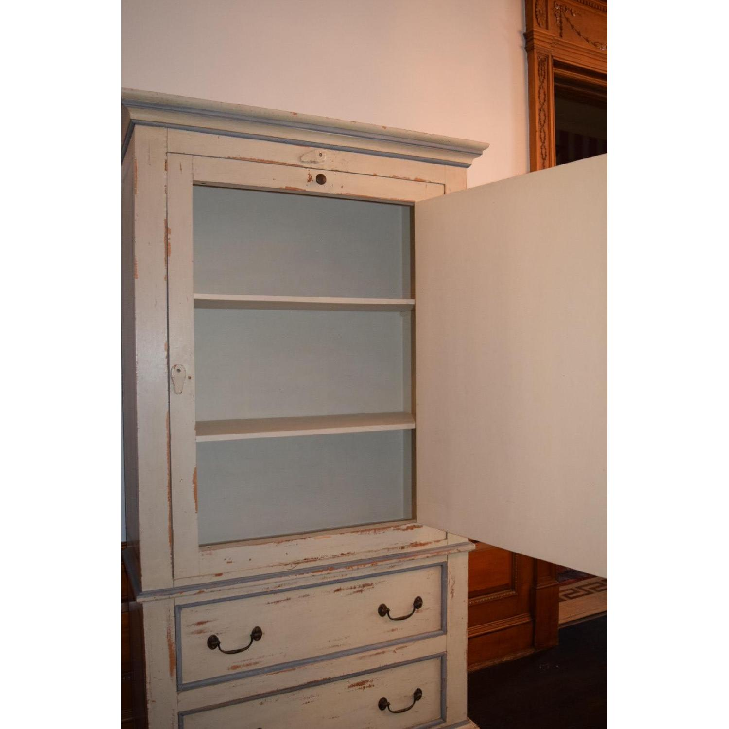 Shabby Chic Hand-Painted Distressed Cabinet - image-4