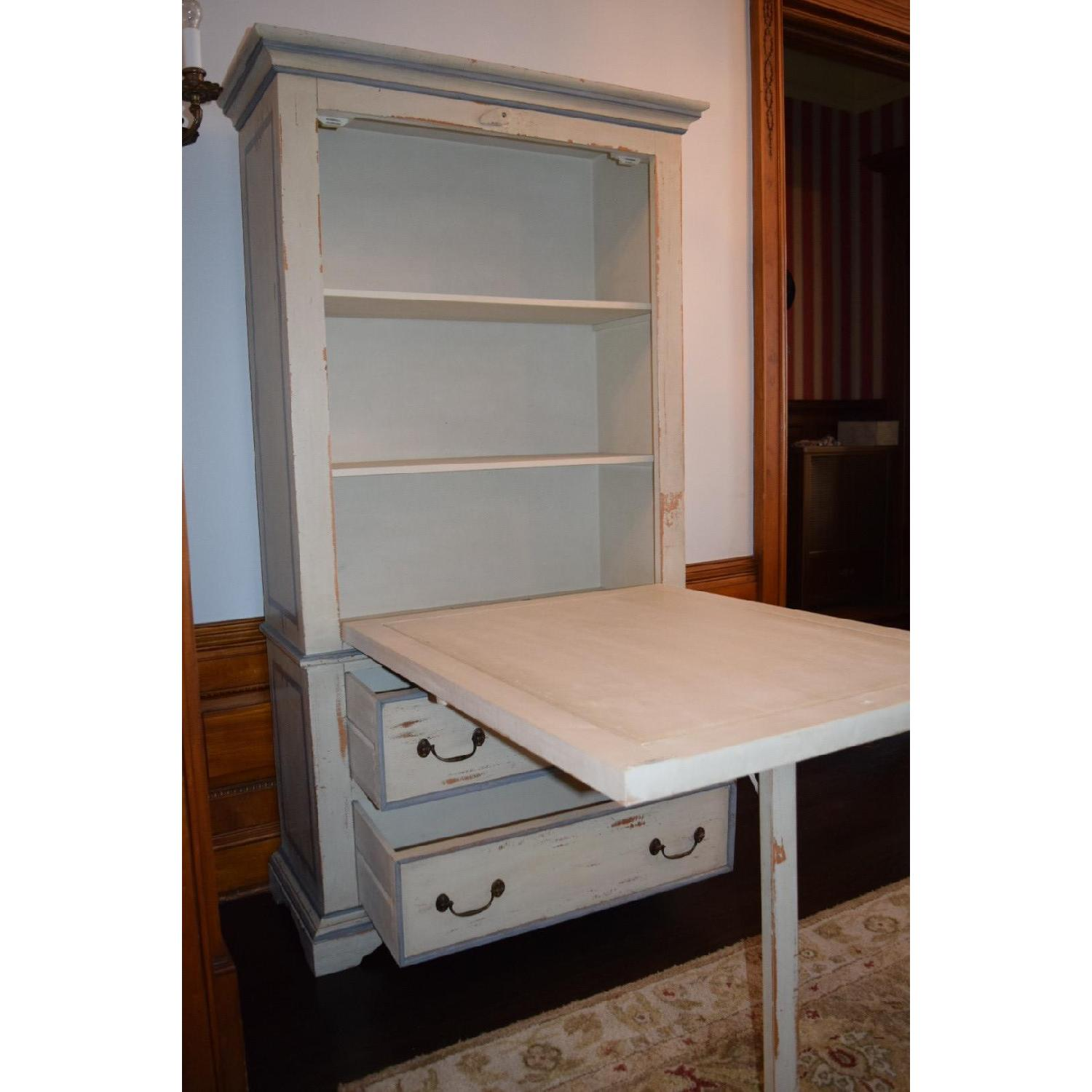 Shabby Chic Hand-Painted Distressed Cabinet - image-5