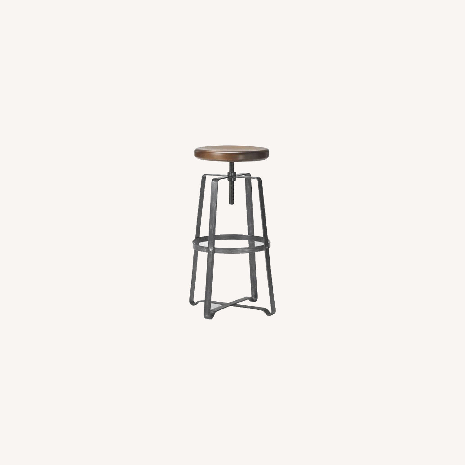 West Elm Adjustable Industrial Wood Counter Stools