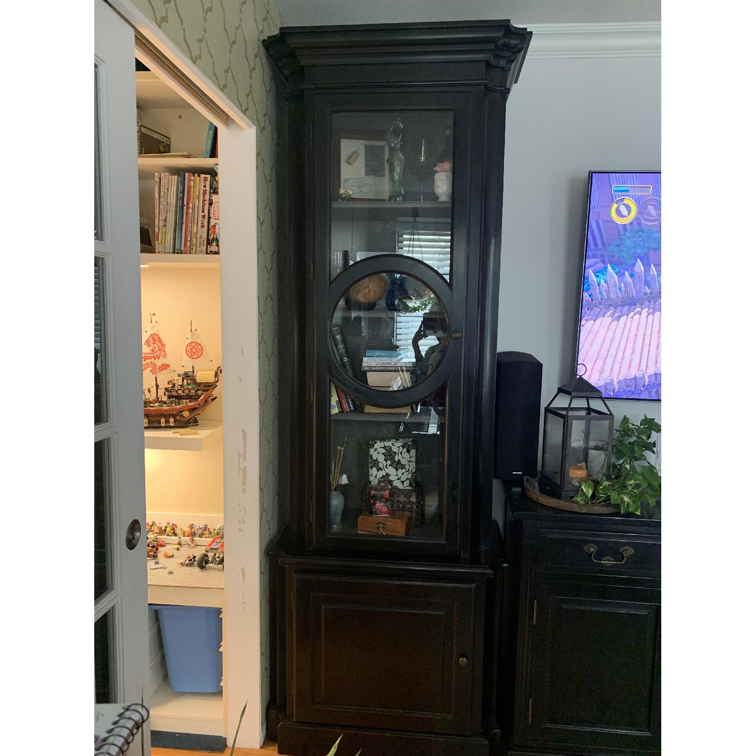 Home & Country Art Deco Bookcases w/ Additional Storage - image-2
