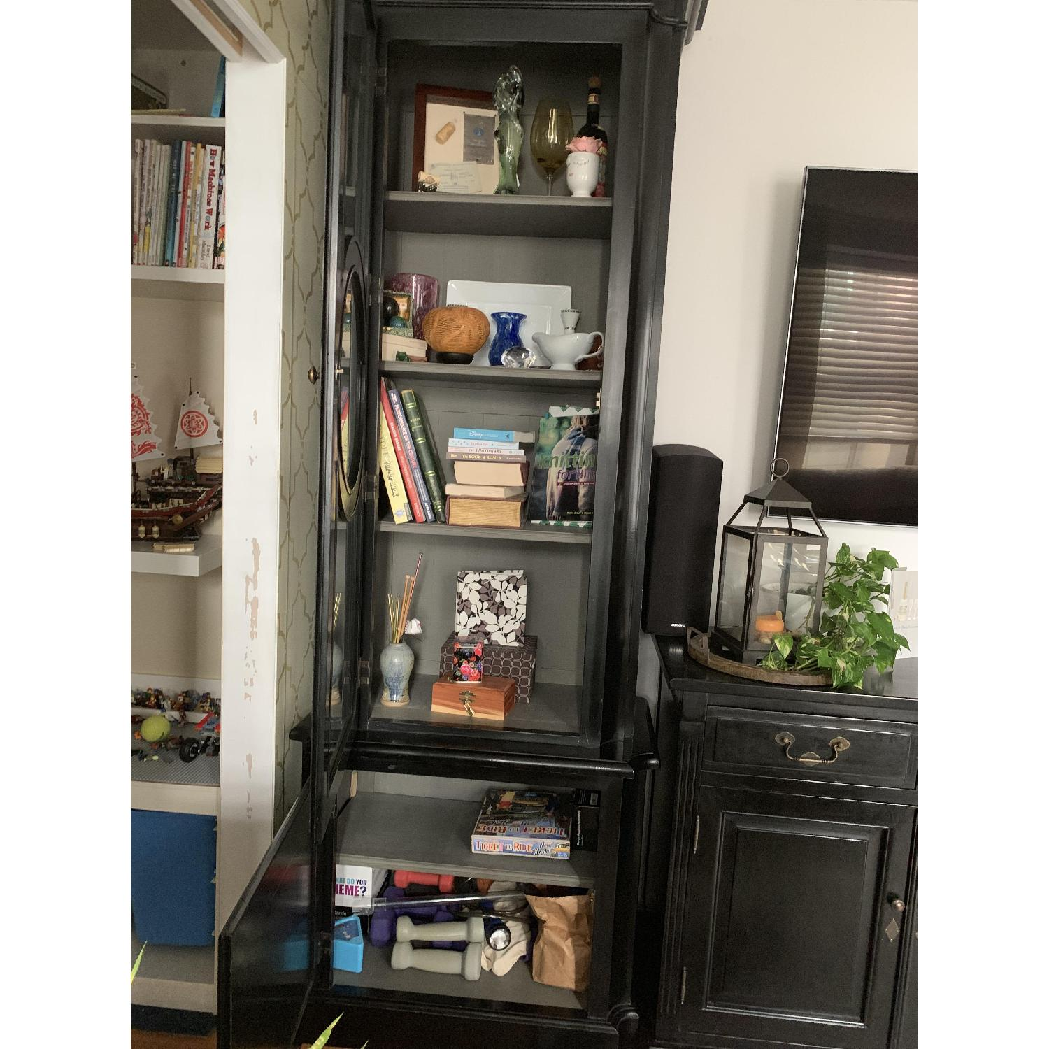 Home & Country Art Deco Bookcases w/ Additional Storage - image-4