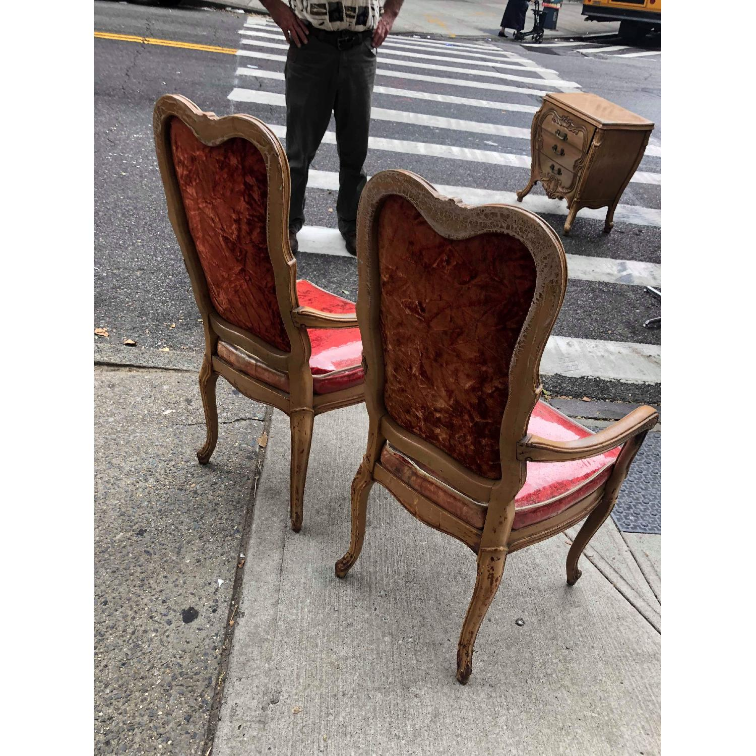 Vintage French Style Red Armchairs - image-8