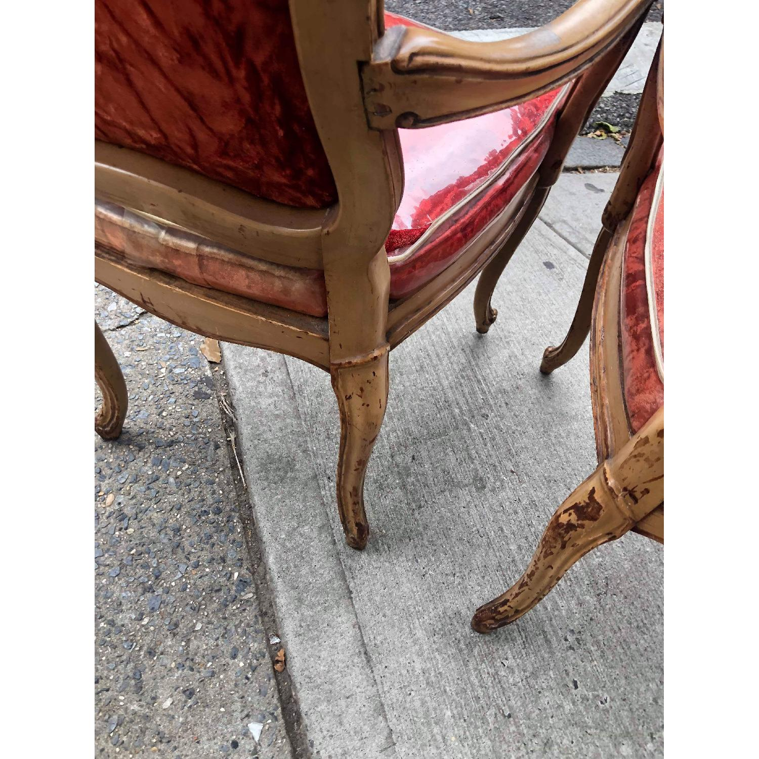Vintage French Style Red Armchairs - image-9