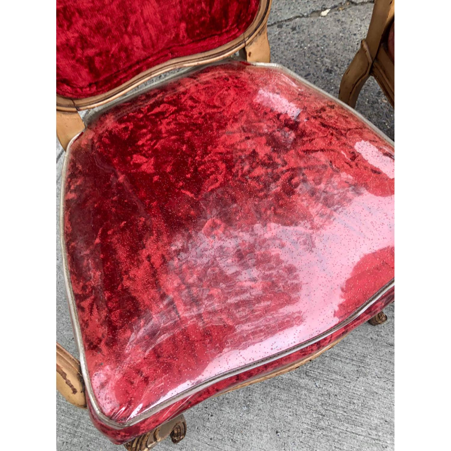 Vintage French Style Red Armchairs - image-4