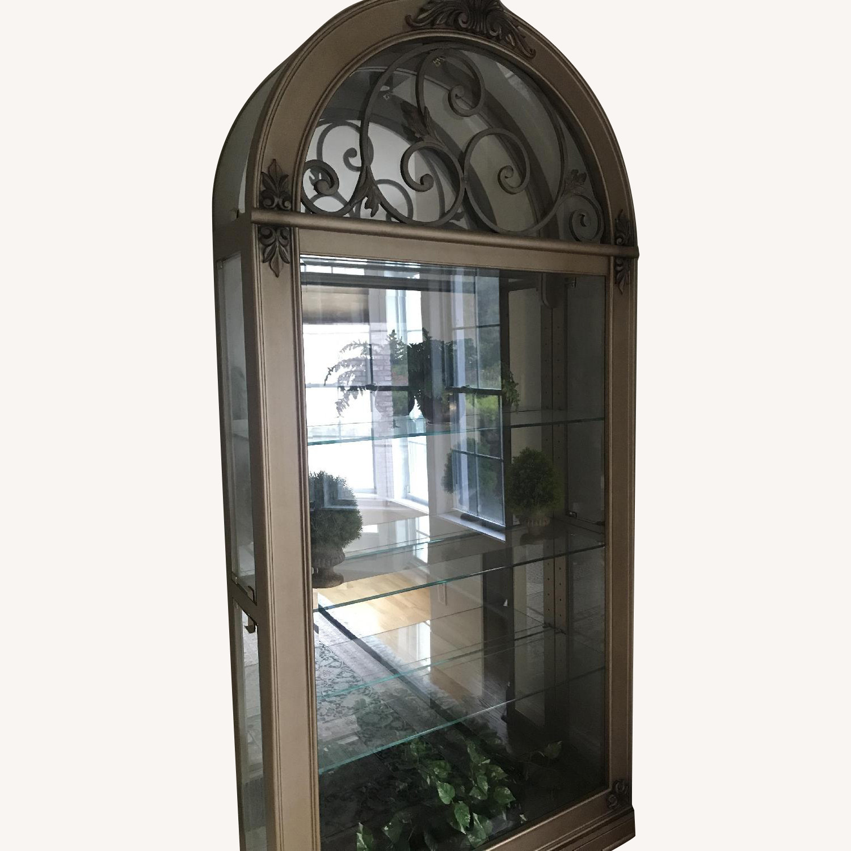 Wood & Glass Curio Cabinet