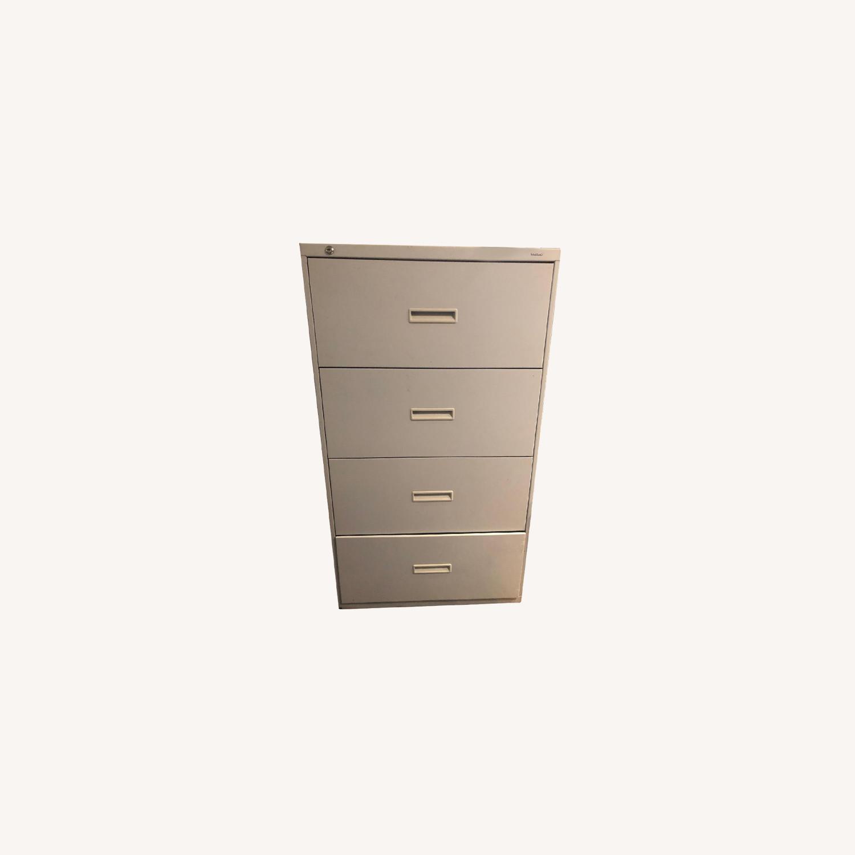 Hon 600 Series Metal 4-Drawer Lateral File Storage - image-0