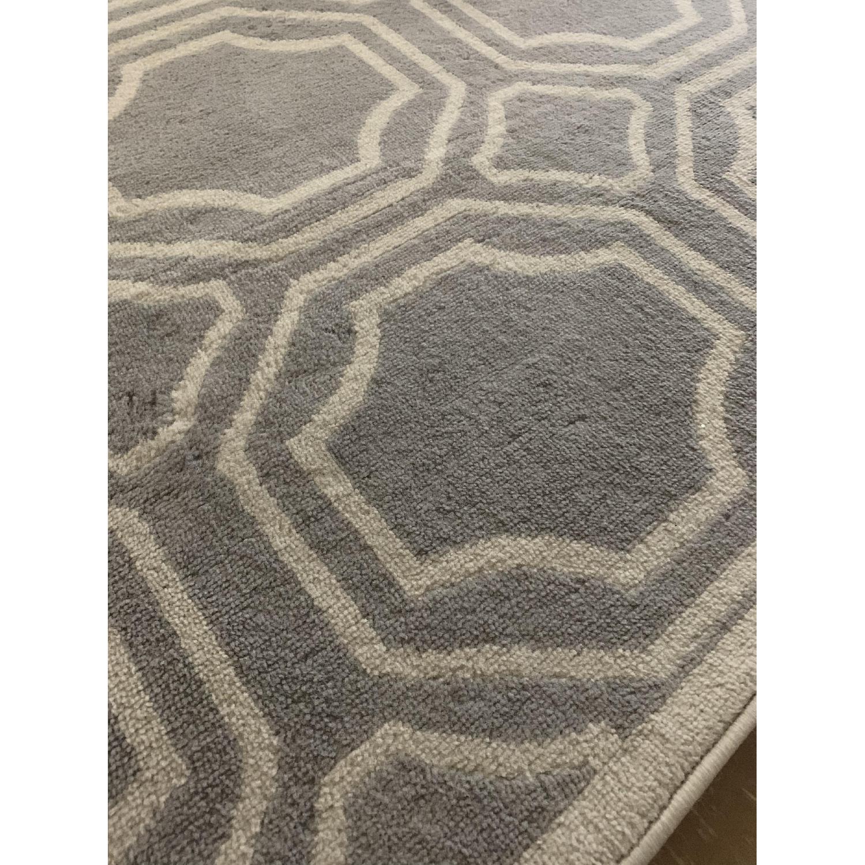 Modern Geometric Grey Area Rug - image-1