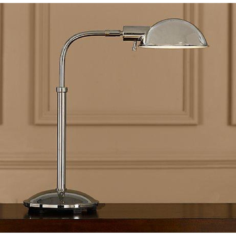 Restoration Hardware Polished Nickel Pharmacy Table Lamps - image-1