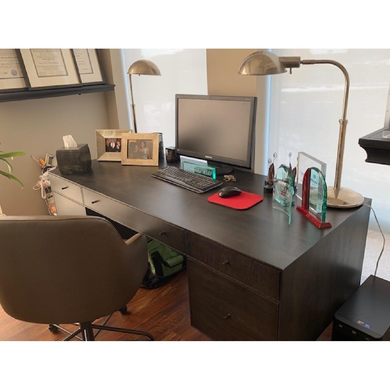 Restoration Hardware Polished Nickel Pharmacy Table Lamps - image-2