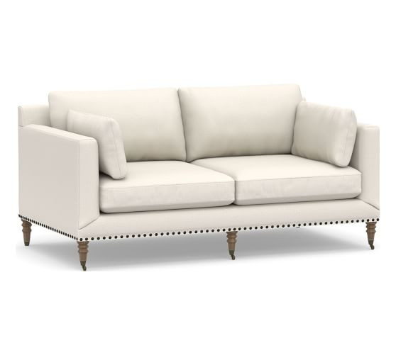 Pottery Barn Loveseat & 2 Ottomans