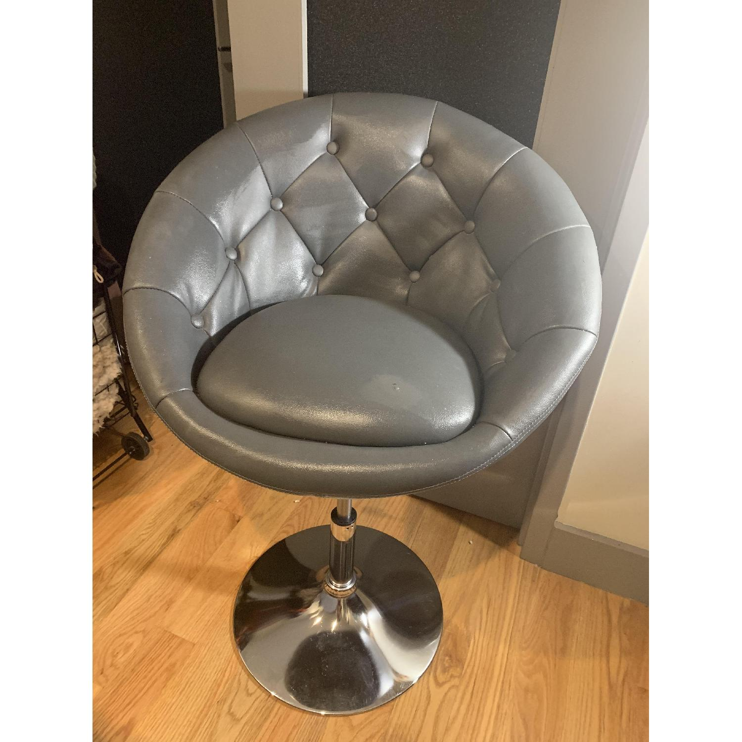 Round Hill Furniture Round Tufted Accent Chair - image-1