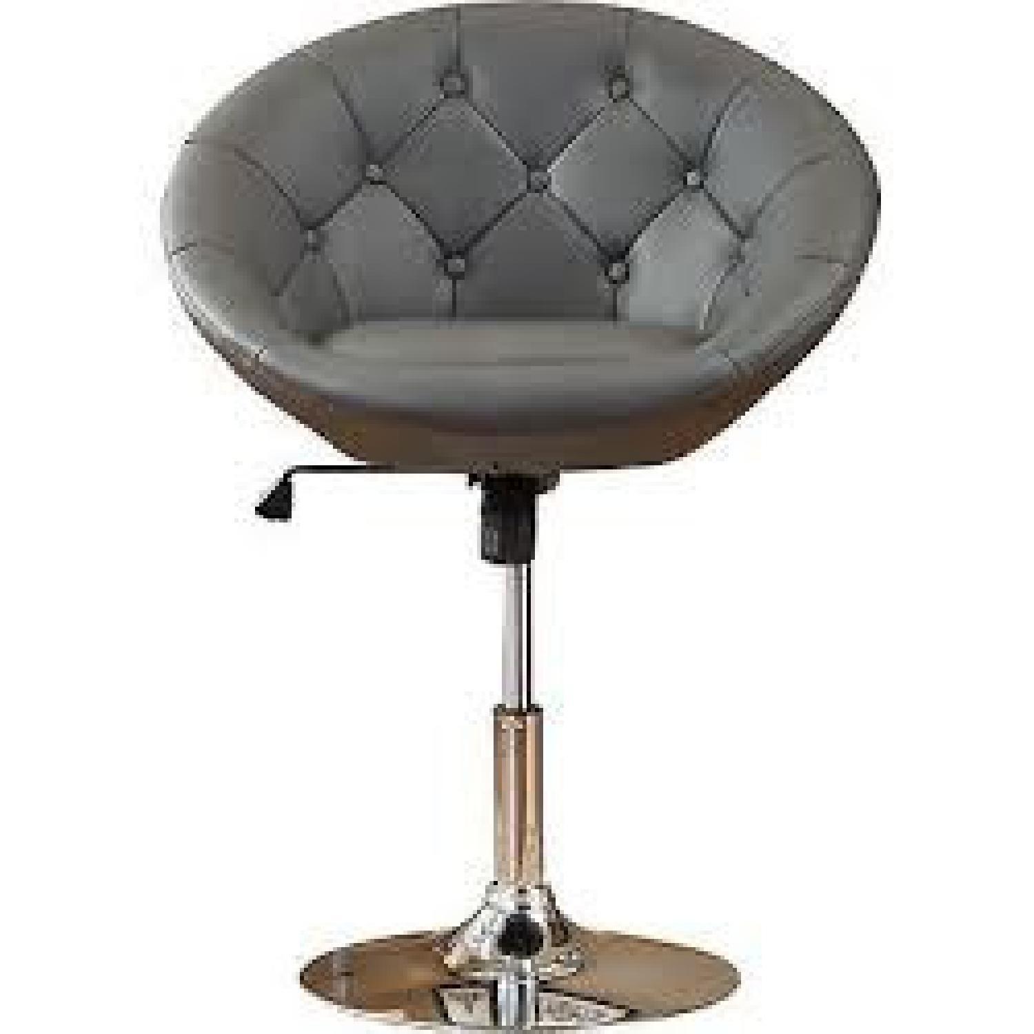 Round Hill Furniture Round Tufted Accent Chair - image-0