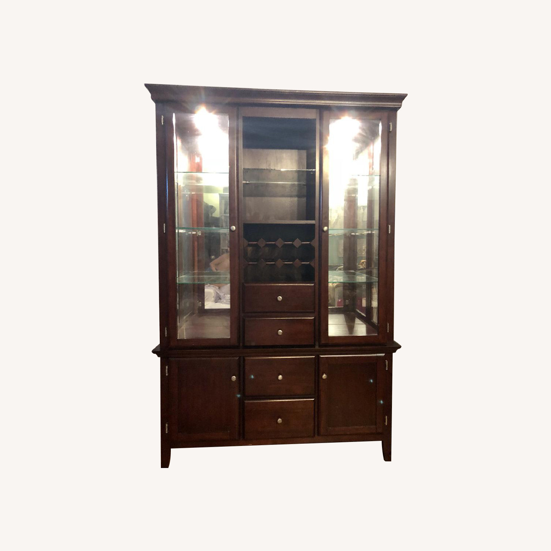 Raymour & Flanigan Cherry Wood China Cabinet