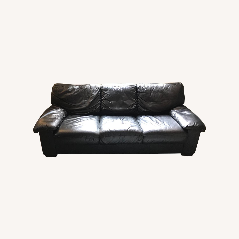 Phenomenal Black Leather Sleeper Sofa Armchair Aptdeco Squirreltailoven Fun Painted Chair Ideas Images Squirreltailovenorg
