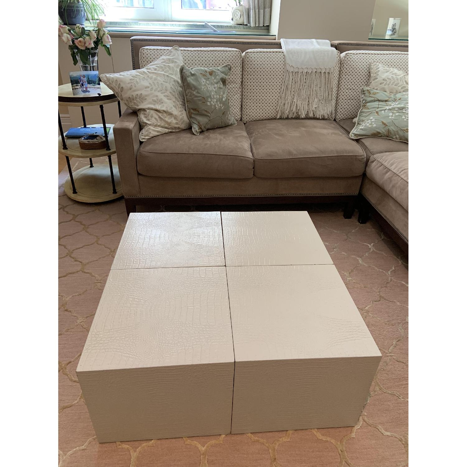 Artistic Frame Custom Made 4 Cubed Coffee Table - image-1