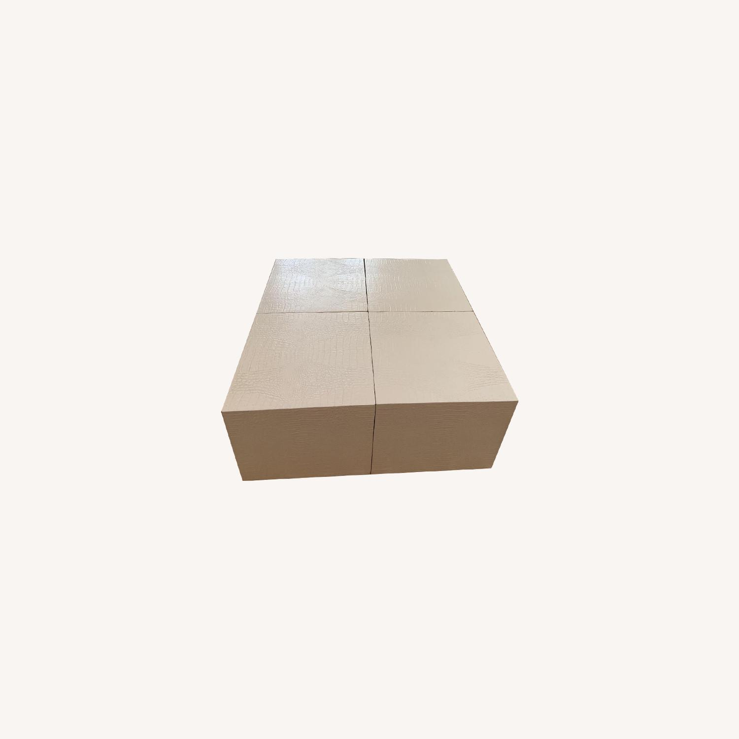 Artistic Frame Custom Made 4 Cubed Coffee Table - image-0