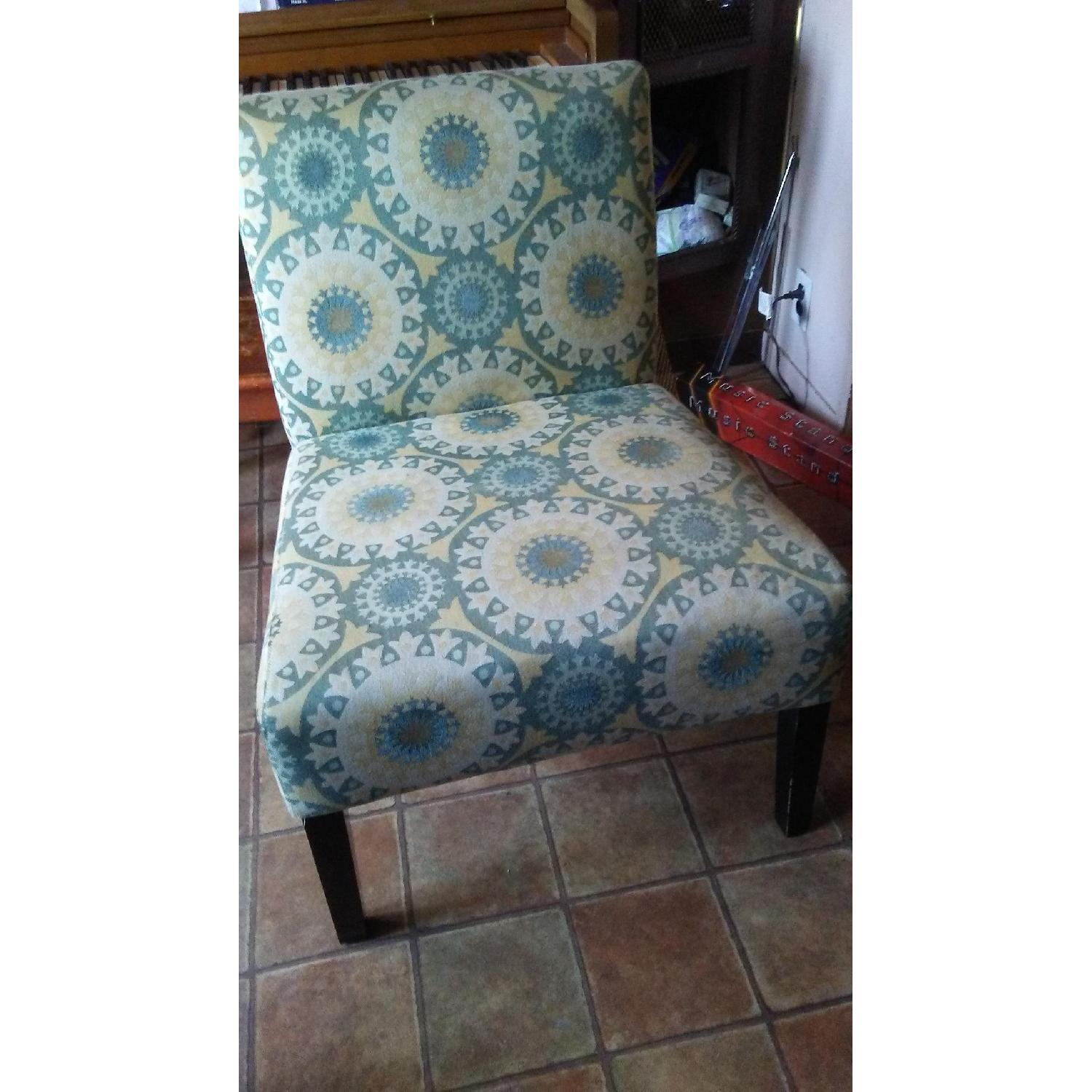 Handy Living Patterned Slipper Chairs - image-1