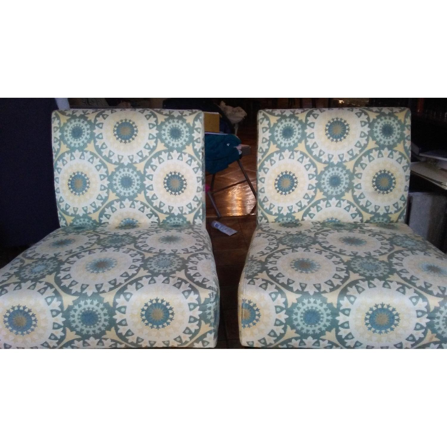 Handy Living Patterned Slipper Chairs - image-2
