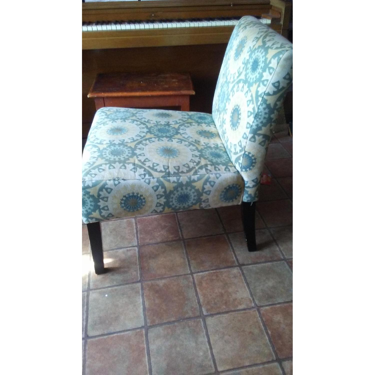 Handy Living Patterned Slipper Chairs - image-3