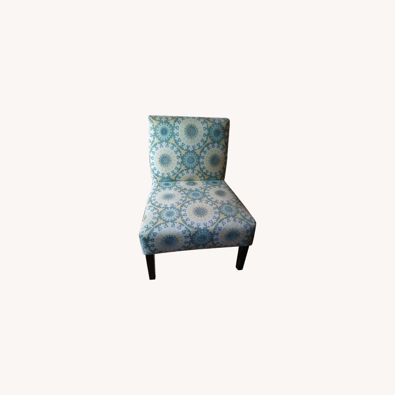 Handy Living Patterned Slipper Chairs - image-0