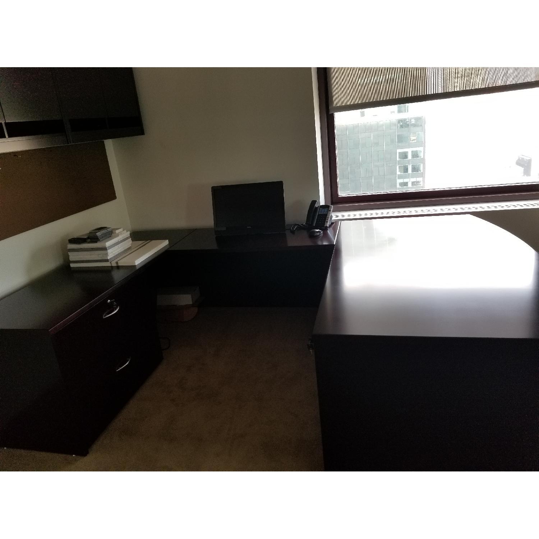 Solid Wooden Work Desk - image-0