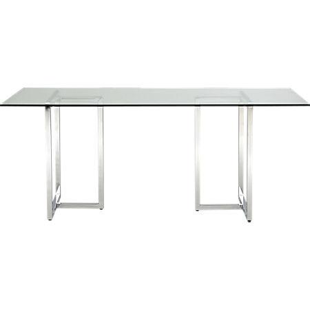 CB2 Silverado Chrome Dining Table