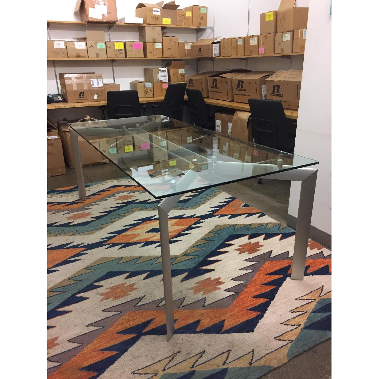 Glass Top Table w/ Metal Legs - image-3