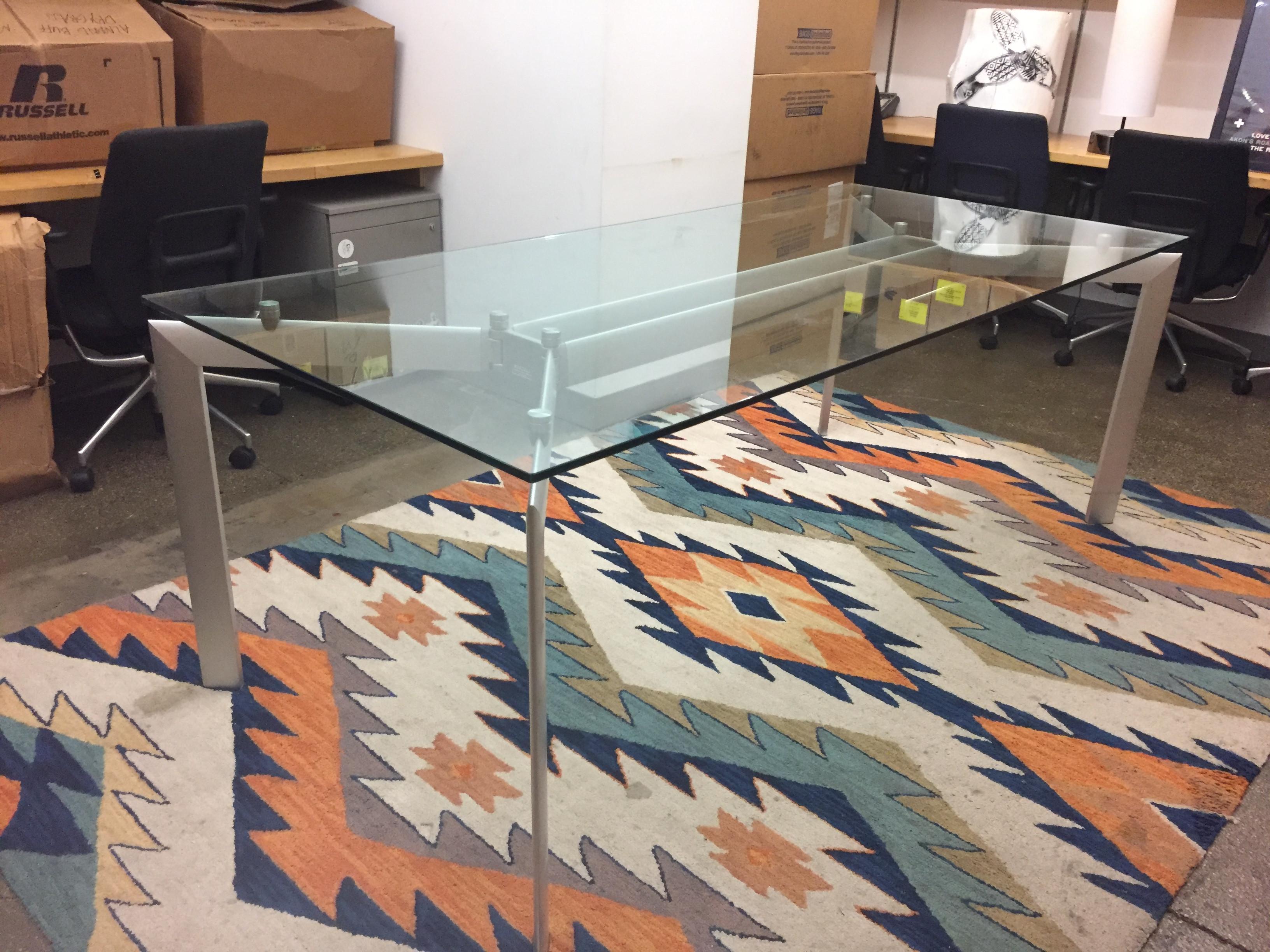 Glass Top Table w/ Metal Legs